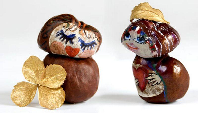 Figuritas de castañas